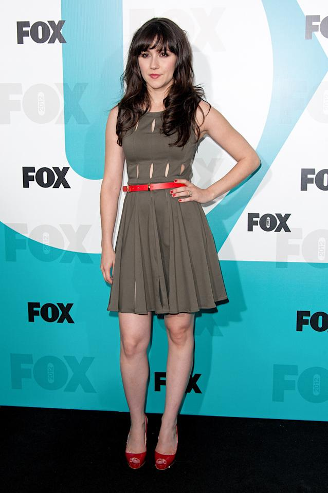 "Shannon Woodward (""Raising Hope"") attends the Fox 2012 Upfronts Post-Show Party on May 14, 2012 in New York City."