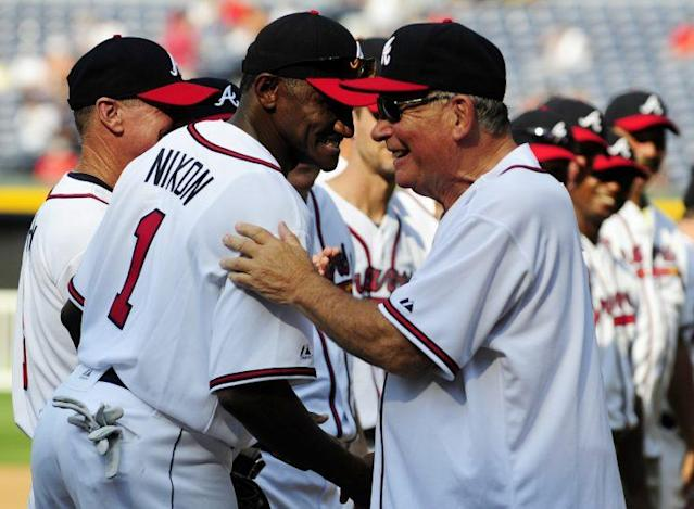 Former Braves outfielder Otis Nixon has been found safe. (AP Photo)