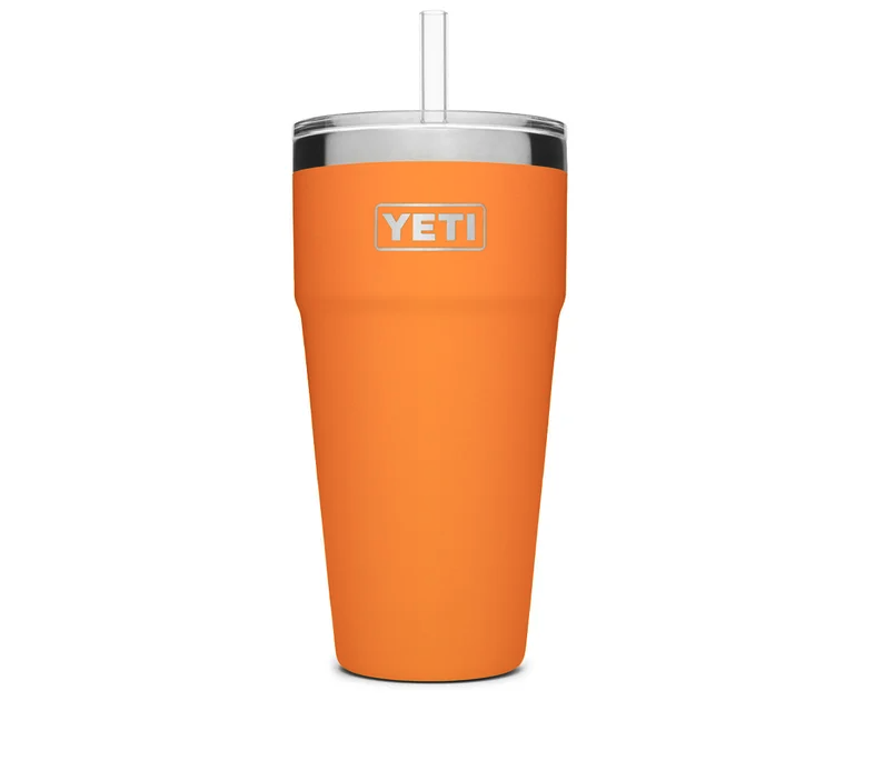 Rambler 769 mL Stackable Cup With Straw Lid. Image via Yeti.