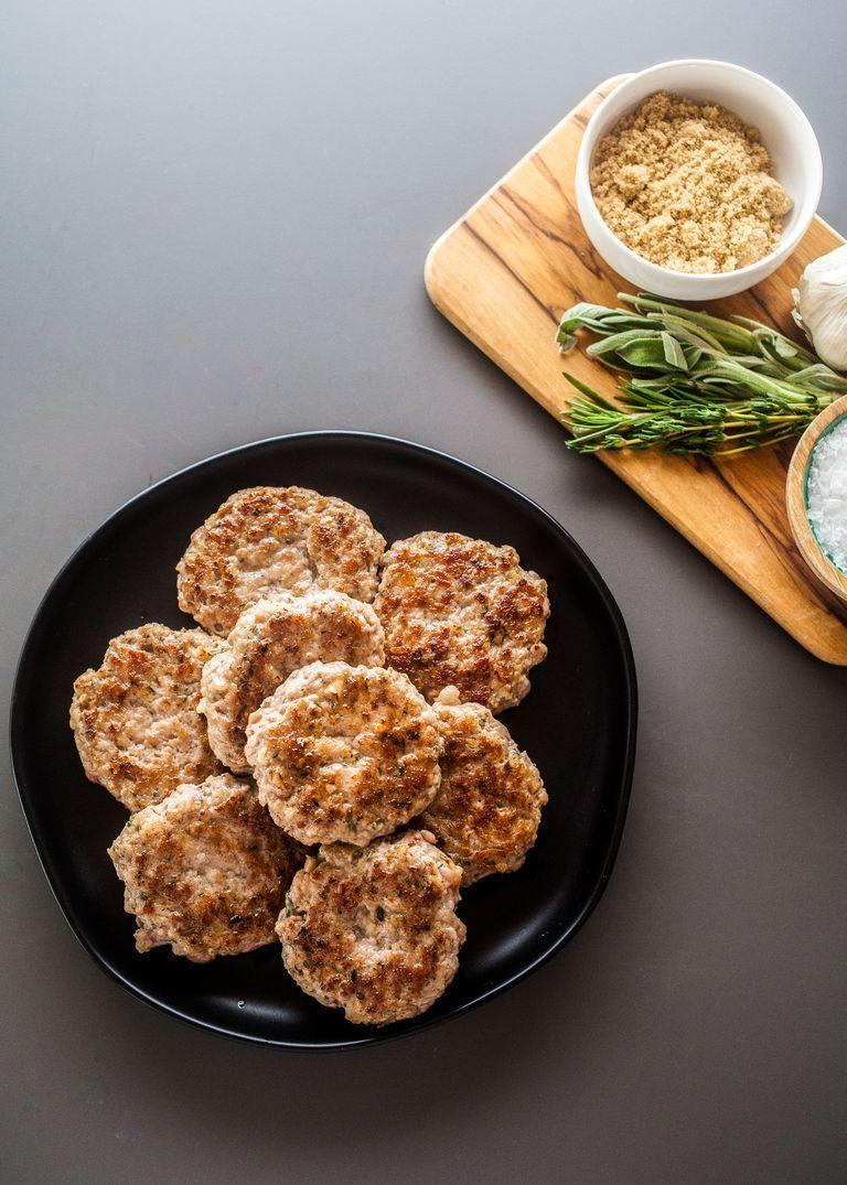 """<p>Make a double batch of these homemade sausage patties and freeze them for a quick morning meal. They're even great on an egg-and-cheese breakfast sandwich! </p><p><a href=""""https://www.thepioneerwoman.com/food-cooking/recipes/a97943/how-to-make-breakfast-sausage-patties/"""" rel=""""nofollow noopener"""" target=""""_blank"""" data-ylk=""""slk:Get the recipe."""" class=""""link rapid-noclick-resp""""><strong>Get the recipe.</strong></a></p>"""