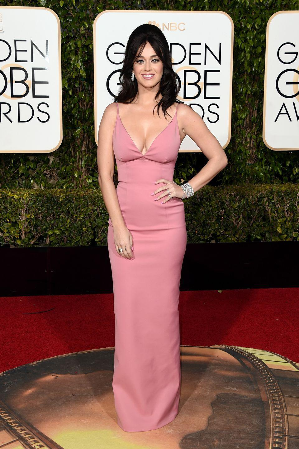 <p>The pop star served up some Old Hollywood style in custom Prada in 2016.</p>