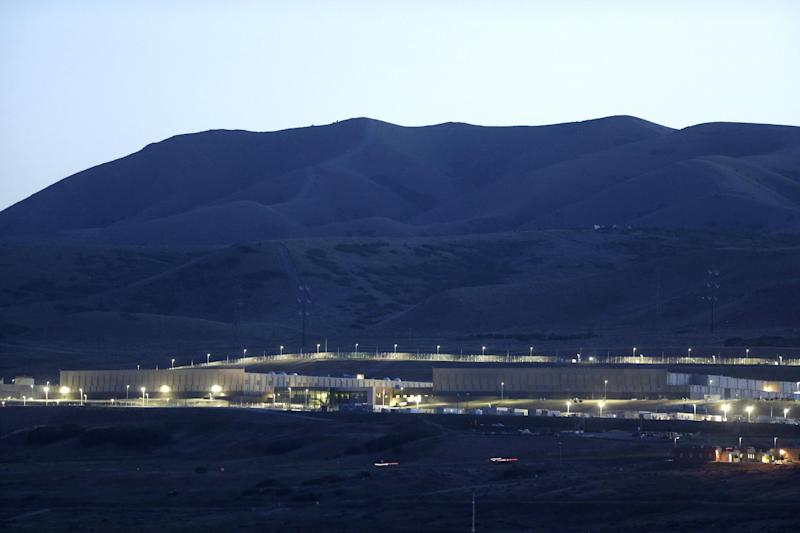 FILE - A Monday, June 10, 2013, file photo, shows Utah's NSA Data Center in Bluffdale, Utah. Electrical failures are complicating the opening of the National Security Agency's largest data storage center. (AP Photo/Rick Bowmer, File)