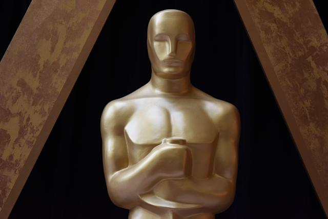 A statue of the Oscar is seen during the 90th Annual Academy Awards on March 4, 2018, in Hollywood. (Photo: Robyn Beck/AFP/Getty Images)