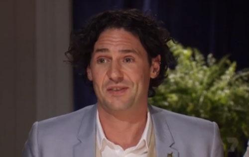 Colin Fassnidge is very impressed during Wednesday night's episode of My Kitchen Rules. Source: Channel Seven