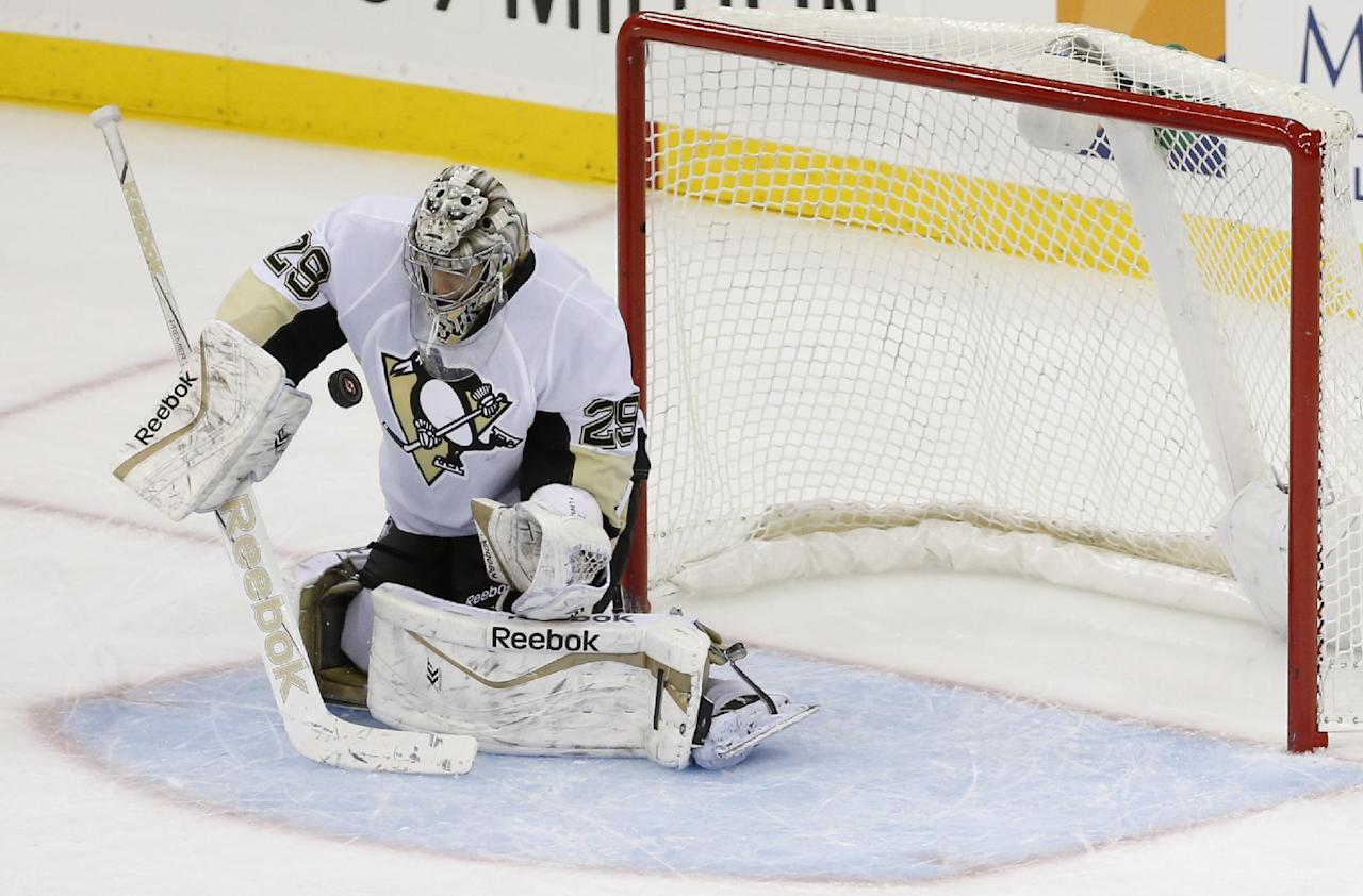 Fleury gets 7th shutout of season as Penguins top Oilers 2-0