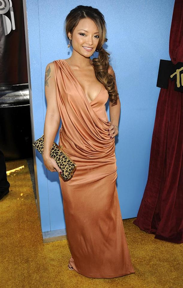 WORST - Tila Tequilla came dressed as the Greek goddess of awful, awful reality TV shows.