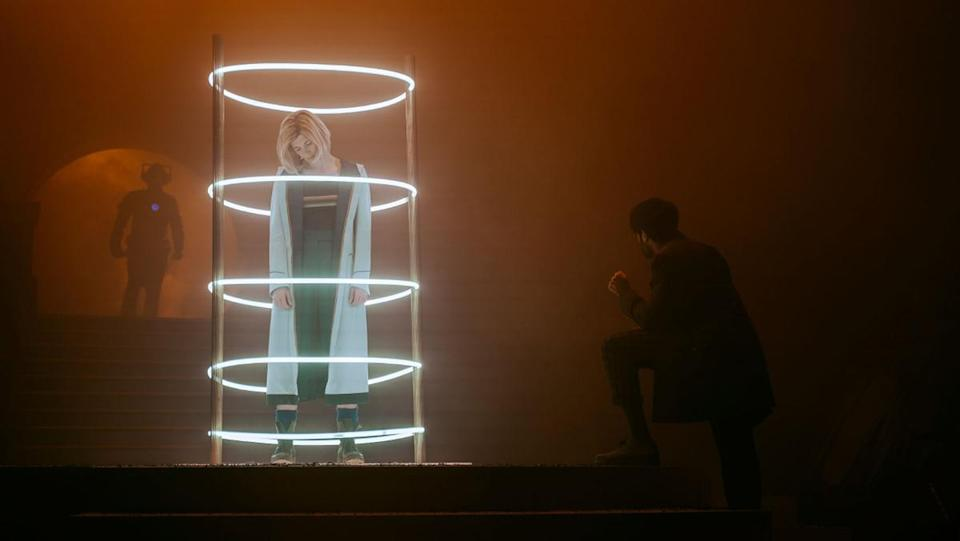 The Doctor is trapped in the Matrix while the Master and Lone Cybermen plot around her in Doctor Who's series 12 finale.