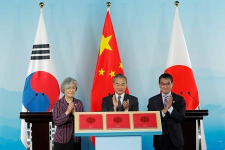 Foreign ministers meeting of China, Korea and Japan in Beijing