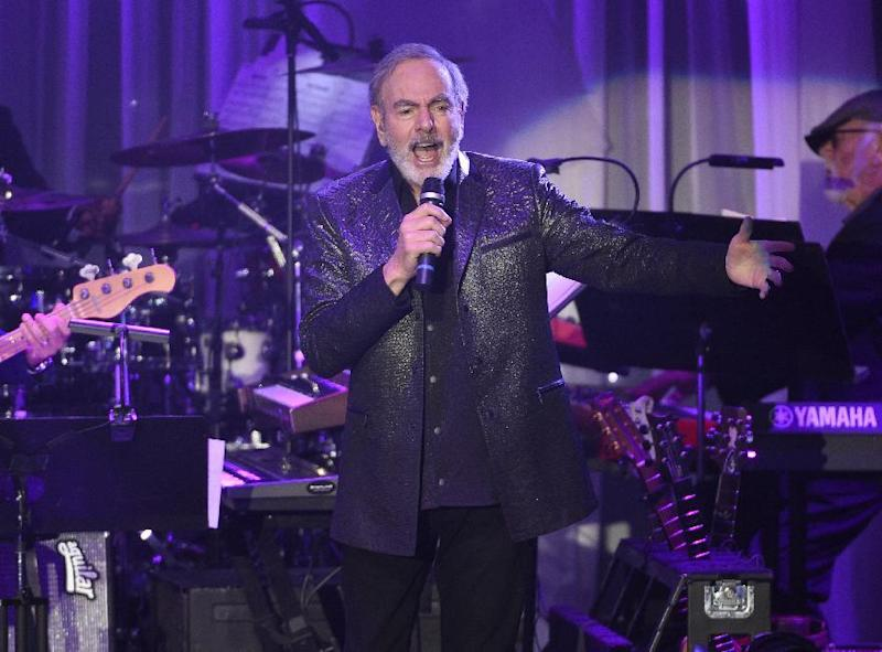 Neil Diamond performs at the Clive Davis and The Recording Academy Pre-Grammy Gala at the Beverly Hilton Hotel on Saturday, Feb. 11, 2017, in Beverly Hills, Calif. (Photo by Chris Pizzello/Invision/AP)