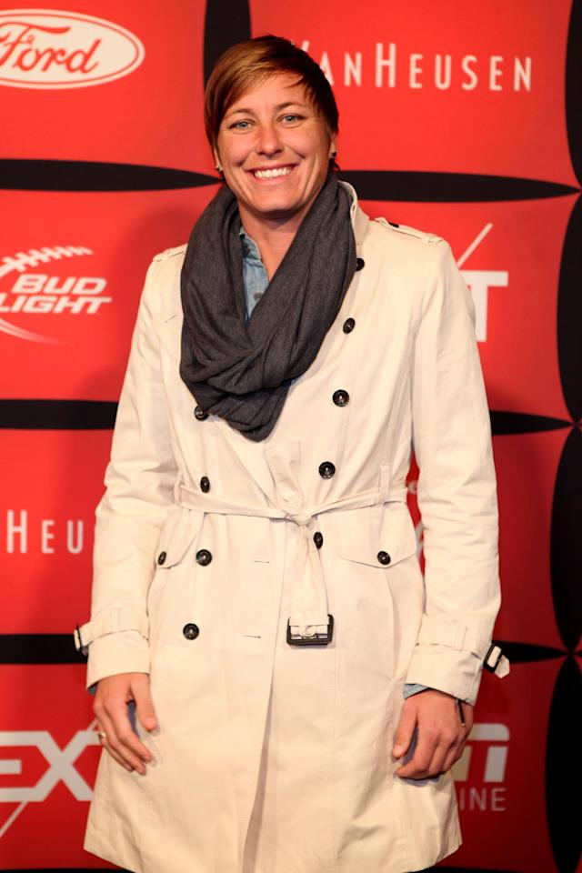 "INDIANAPOLIS, IN - FEBRUARY 03: Soccer player Abby Wambach attends ESPN The Magazine's ""NEXT"" Event on February 3, 2012 in Indianapolis, Indiana. (Photo by Robin Marchant/Getty Images for ESPN)"