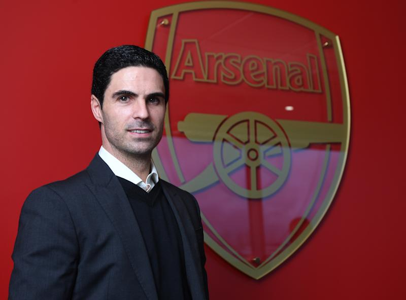 ST ALBANS, ENGLAND - DECEMBER 20: (EXCLUSIVE COVERAGE) New Arsenal Head Coach Mikel Arteta is unveiled at London Colney on December 20, 2019 in St Albans, England. (Photo by Stuart MacFarlane/Arsenal FC via Getty Images)
