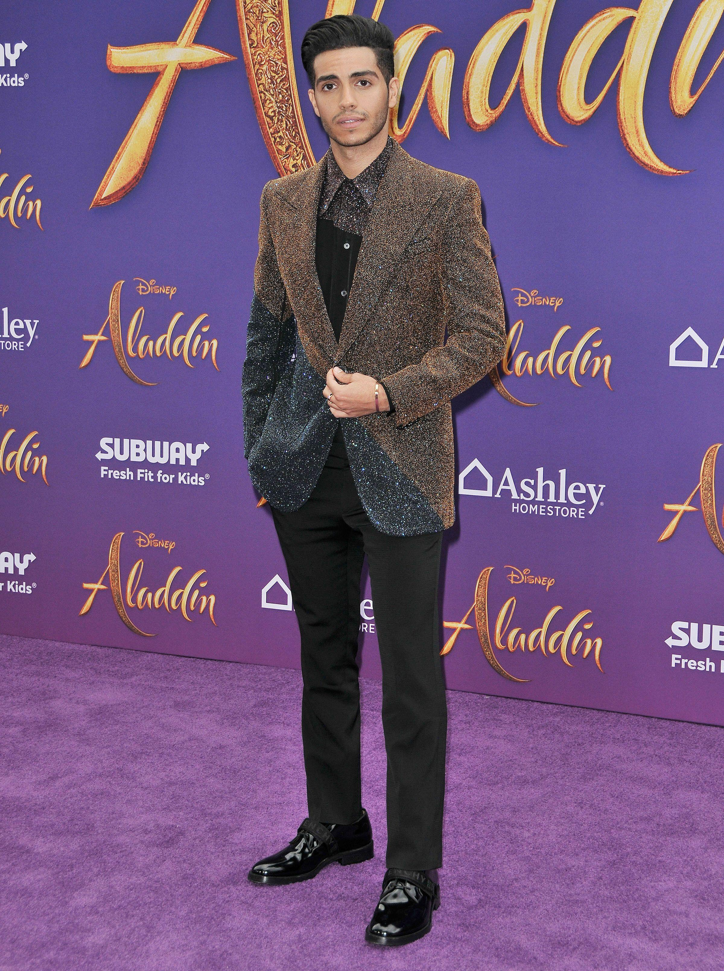 Mena Massoud at the 'Aladdin' premiere at El Capitan Theatre in Hollywood. [Photo: PA]
