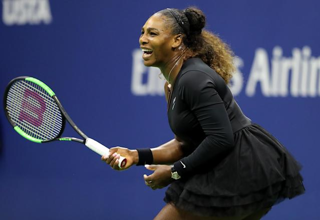 "<a class=""link rapid-noclick-resp"" href=""/olympics/rio-2016/a/1132744/"" data-ylk=""slk:Serena Williams"">Serena Williams</a> dominated her sister Venus on Friday night in their third round match at the U.S. Open. (Getty Images)"