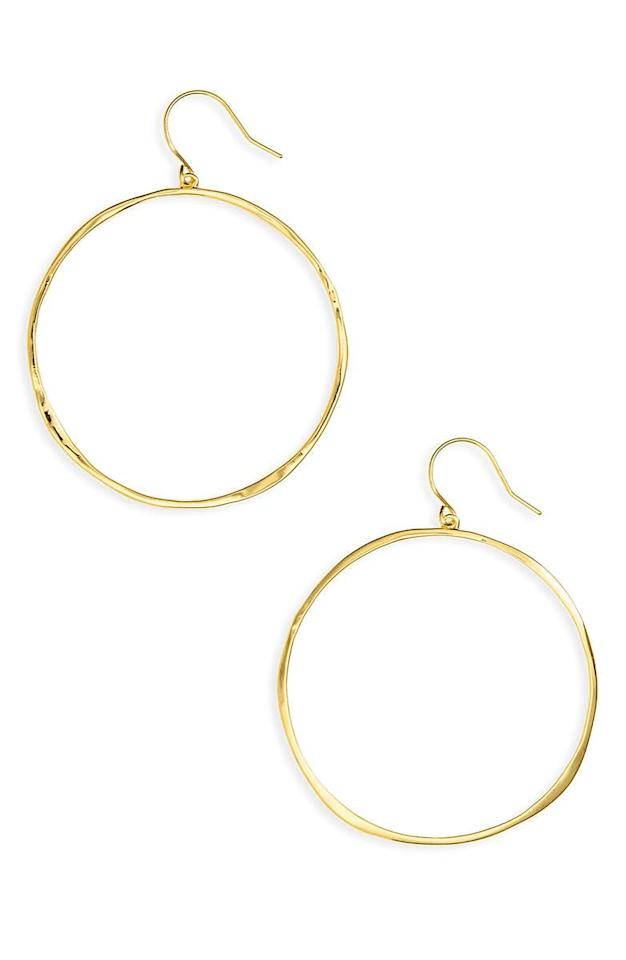 "<p><em>$60</em></p><p><a rel=""nofollow"" href=""https://shop.nordstrom.com/s/gorjana-g-ring-hoops/3788548"">SHOP NOW</a></p><p>These gold hoop earrings are lightweight, which make them great for everyday wear. </p>"
