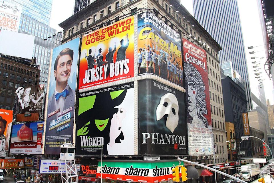 <p>The best of Broadway advertisements are proudly presented in Times Square in kickoff Fall in August.</p>