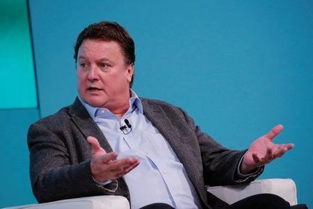 Greg Clark, CEO of Symantec, takes part in the Yahoo Finance All Markets Summit in New York