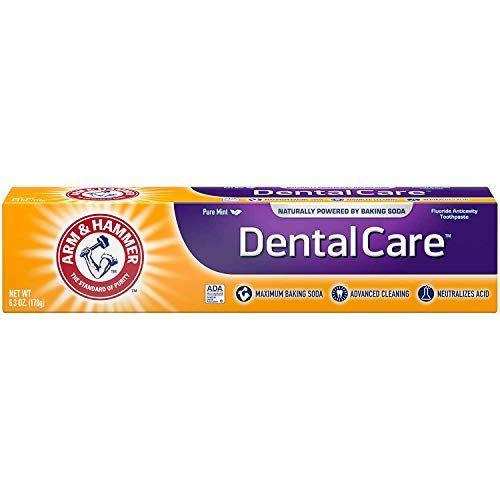 """<p><strong>Arm & Hammer</strong></p><p>amazon.com</p><p><strong>$12.50</strong></p><p><a href=""""https://www.amazon.com/dp/B00KNYVV7O?tag=syn-yahoo-20&ascsubtag=%5Bartid%7C10055.g.36933033%5Bsrc%7Cyahoo-us"""" rel=""""nofollow noopener"""" target=""""_blank"""" data-ylk=""""slk:Shop Now"""" class=""""link rapid-noclick-resp"""">Shop Now</a></p><p>Baking soda helps this ADA-approved paste neutralize acids that may erode enamel, fight plaque and bad breath and gently whiten. </p>"""