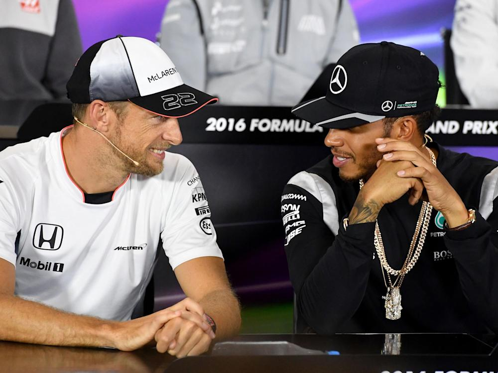 The pair were teammates between 2010 to 2012 at McLaren: Getty