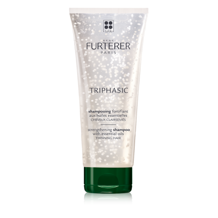 """<h3>Rene Furterer Triphasic Strengthening Shampoo</h3><br>This shampoo boasts a proprietary ingredient the brand says is capable of jumpstarting the hair's growth phase, along with a more tangible asset: suspended beads of encapsulated orange, lavender and rosemary essential oils inside. Together, they promote microcirculation when massaged into the scalp, which is a vital practice according to Philip B. """"I can't emphasize enough the importance of a daily scalp massage,"""" he says. """"I touch a lot of heads and in my experience, a scalp that feels tight as a coconut or super coated with gunk isn't usually growing lush, thick hair. For optimal circulation, you want your scalp to have a little give.""""<br><br><strong>Rene Furterer</strong> Triphasic Strengthening Shampoo, $, available at <a href=""""https://go.skimresources.com/?id=30283X879131&url=https%3A%2F%2Fwww.dermstore.com%2Fproduct_Triphasic%2BStrengthening%2BShampoo_76861.htm"""" rel=""""nofollow noopener"""" target=""""_blank"""" data-ylk=""""slk:DermStore"""" class=""""link rapid-noclick-resp"""">DermStore</a>"""