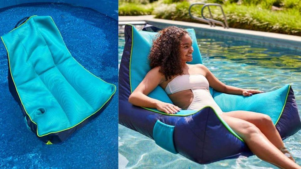 We tried this bean bag-style pool float, and it was weird