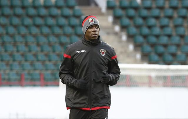 Soccer Football - Europa League - OGC Nice Training - Moscow, Russia - February 21, 2018 - Nice's Mario Balotelli trains. REUTERS/Sergei Karpukhin