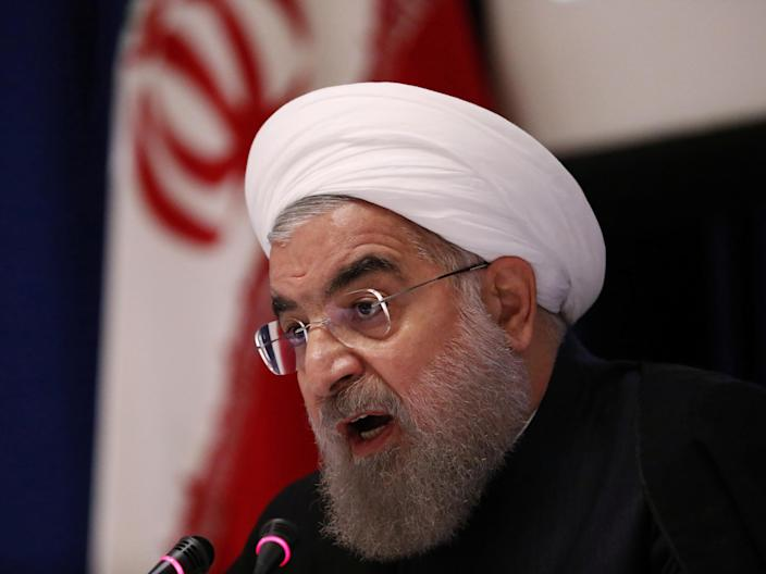 Iranian president Hassan Rouhani compares his country's treatment under the US to George Floyd death ( )