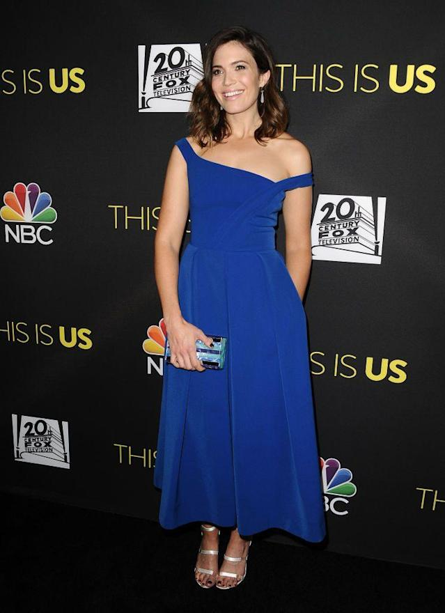 Mandy Moore in Preen. (Photo: Getty Images)