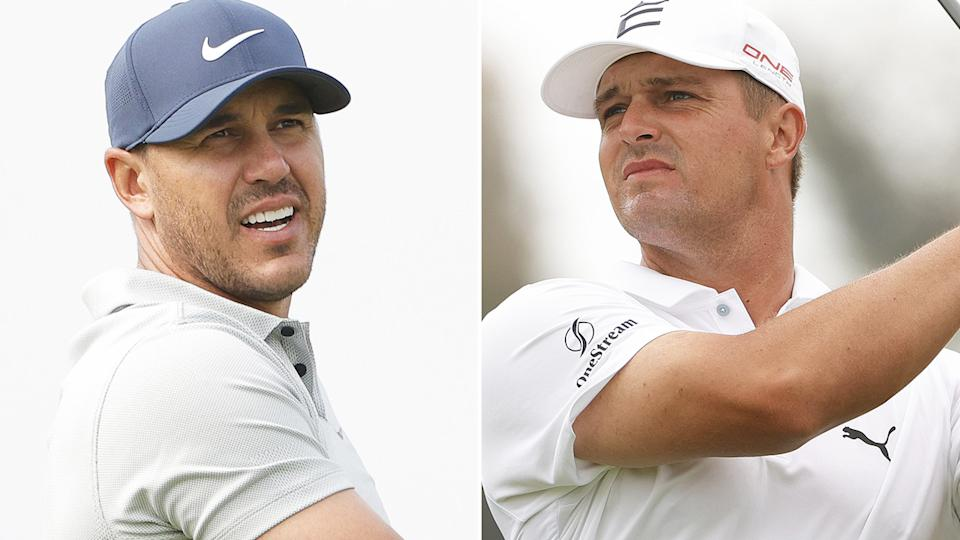 Brroks Koepka and Bryson DeChambeau's feud is showing no signs of slowing heading into the US Open. Pictures: Getty Images