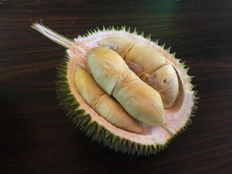 The Jin Feng comes from Pahang and has pale yellow, creamy flesh that is typically sweet with a slight bitterness. (Photo by: Erin Kimbrell/Yahoo Singapore)