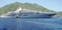 <p>This megayacht was constructed by Platinum Yachts for Prince Jefri Bolkiah of Brunei and now belongs to Sheikh Mohammed bin Rashid Al Maktoum, ruler of Dubai and Prime Minister of the United Arab Emirates. The yacht took 10 years to perfect and is widely considered one of the most luxurious yachts in the world. <em>Dubai</em> boasts a mosaic-tiled swimming pool, multiple Jacuzzis, disco, and a squash court. Its dining room alone can hold up to 90 guests, and the boat has room for 88 crew members.</p>