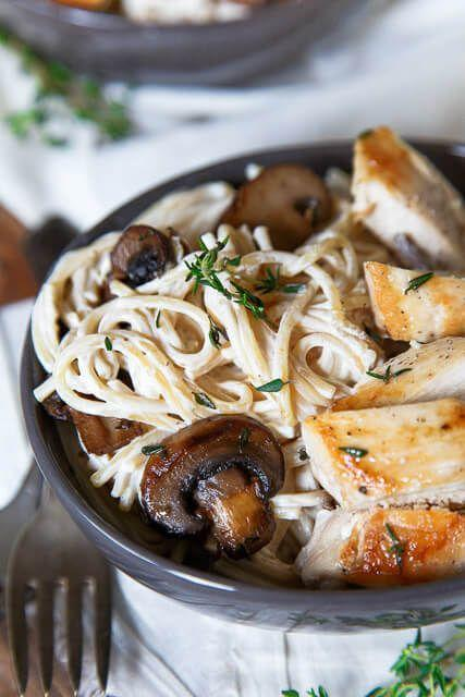 """<p>Guys, it's called """"Engagement Chicken"""" for a reason. Might want to to get a manicure before you serve this up on date night...just in case.<br><strong><br>Get the recipe at <a href=""""https://www.dessertfortwo.com/dinner-for-two-engagement-pasta/"""" target=""""_blank"""">Dessert for Two</a>.</strong></p>"""