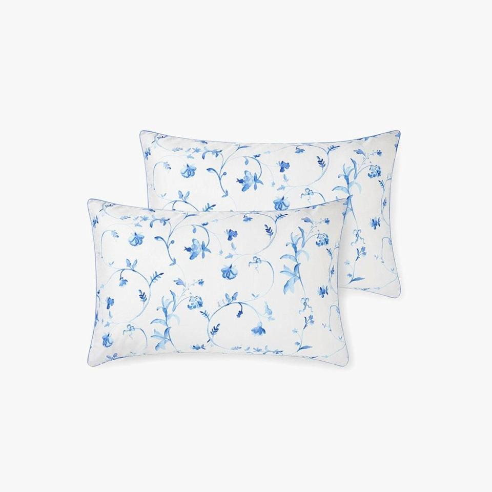 "$100, HILL HOUSE HOME. <a href=""https://www.hillhousehome.com/products/botanical-pillowcase-set?variant=33098129801259#Image27941565202475"" rel=""nofollow noopener"" target=""_blank"" data-ylk=""slk:Get it now!"" class=""link rapid-noclick-resp"">Get it now!</a>"