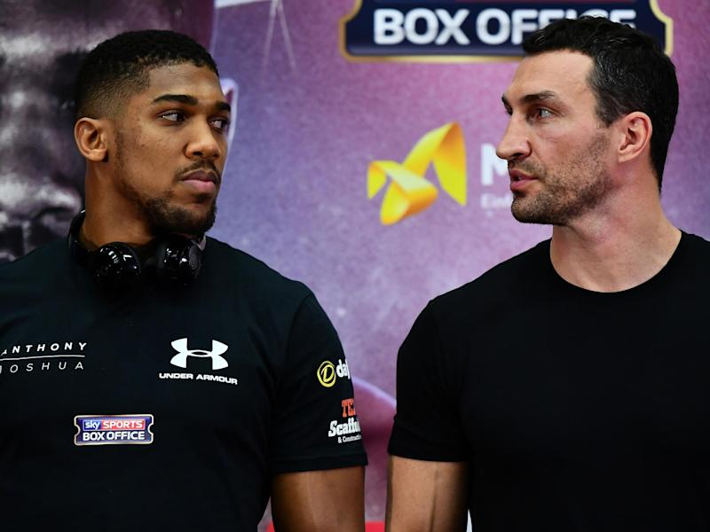 Joshua and Klitschko will go head to head at Wembley Stadium: Getty