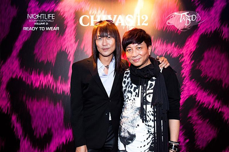 Author Ivan Lim (left), with Addie Low, at the launch of 'Nightlife Confidential' Volume 3. (Photo by Pernod Ricard Singapore)