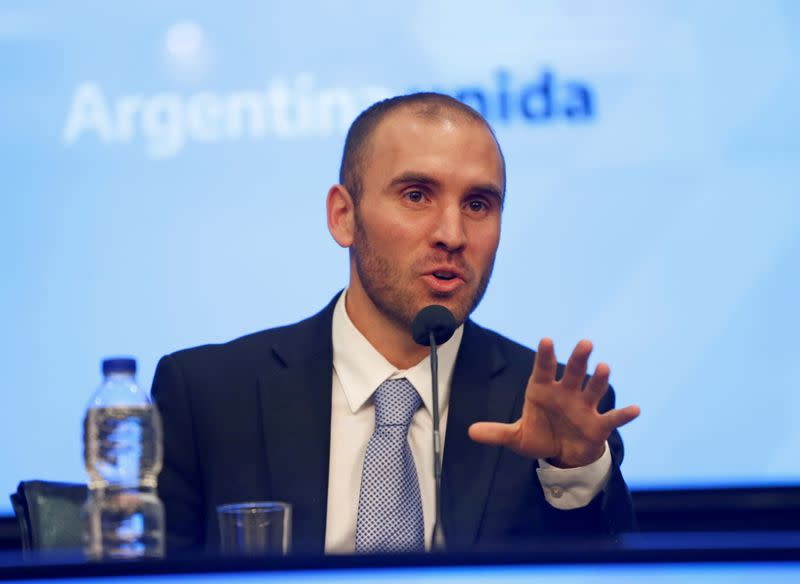 Argentina working 'nonstop' to resolve debt crisis, economy minister says