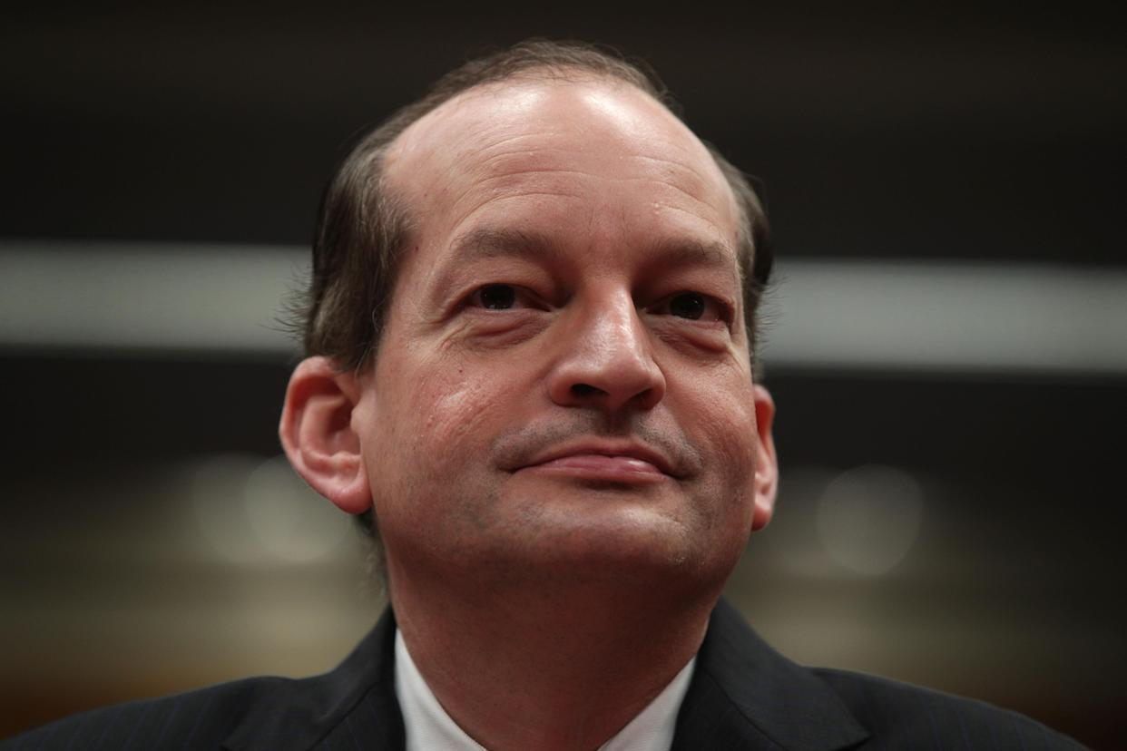 Labor Secretary Alexander Acosta. (Photo: Alex Wong/Getty Images)