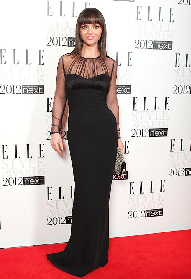 LONDON, ENGLAND - FEBRUARY 13:  Actress Christina Ricci  attends the ELLE Style Awards 2012 at The Savoy Hotel on February 13, 2012 in London, England.  (Photo by Mike Marsland/WireImage)
