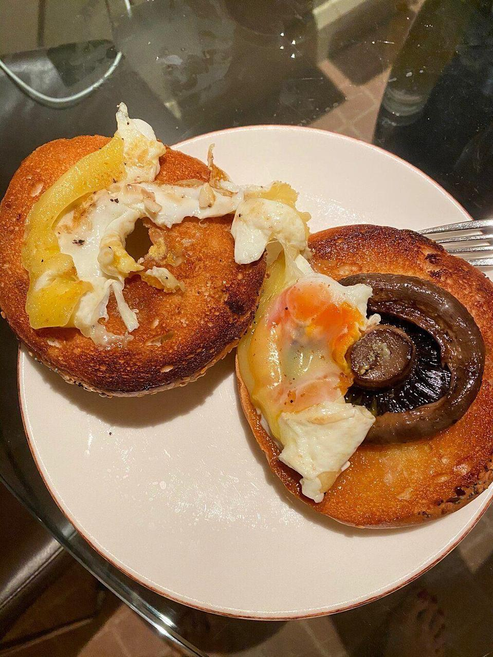 """A """"field mushroom bagel with fried egg and cheese"""" from the Radisson (Photo: Trip Advisor)"""