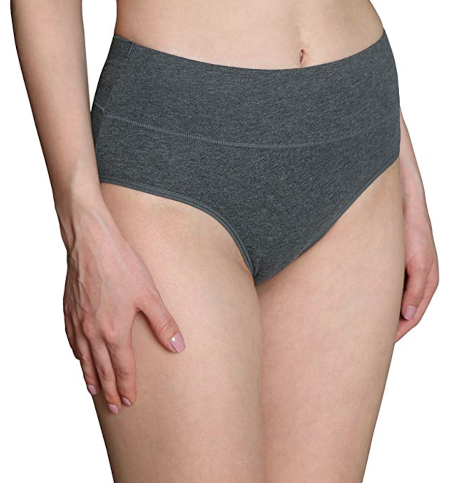 """<h3>Innersy Multipack High Cut Cotton Underpants </h3><br><br><strong>Best Shapewear </strong><br><br>These everyday cotton undies don't have a seam on the side of the waistband so they're great whether you're in postpartum recovery or just looking for an easy-to-wear, higher-cut waistband. They also stay in place so you'll avoid the always-uncomfortable chafing situation. A few customers pointed out that these run a bit small, so be aware of sizing when placing an order.<br><br><strong>The Hype:</strong> 4.5 out of 5 stars; 10,179 reviews on <a href=""""https://amzn.to/2Sa5J8W"""" rel=""""nofollow noopener"""" target=""""_blank"""" data-ylk=""""slk:Amazon.com"""" class=""""link rapid-noclick-resp"""">Amazon.com</a><br><br><strong>What They Are Saying:</strong> """"There is no thin elastic. The wide band is perfect....it doesn't roll, it just lies flat and is very comfortable."""" — Susan Allen, Amazon.com reviewer<br><br><br><strong>Innersy</strong> High Cut Cotton Underpants (5-Pack), $, available at <a href=""""https://amzn.to/39dnvh9"""" rel=""""nofollow noopener"""" target=""""_blank"""" data-ylk=""""slk:Amazon"""" class=""""link rapid-noclick-resp"""">Amazon</a>"""