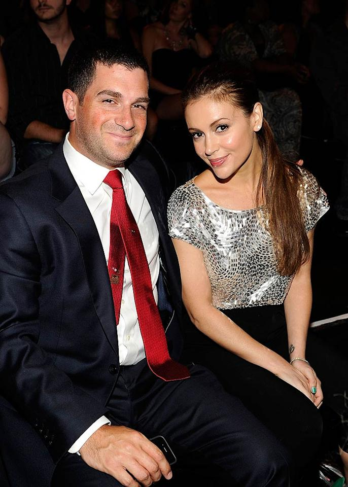 """Actress Alyssa Milano (with husband David Bugliari) was recognized for her avid use of Twitter, often to help raise money for charity. She even beat out the famous @aplusk (aka Ashton Kutcher)! Kevin Mazur/<a href=""""http://www.wireimage.com"""" target=""""new"""">WireImage.com</a> - July 19, 2010"""