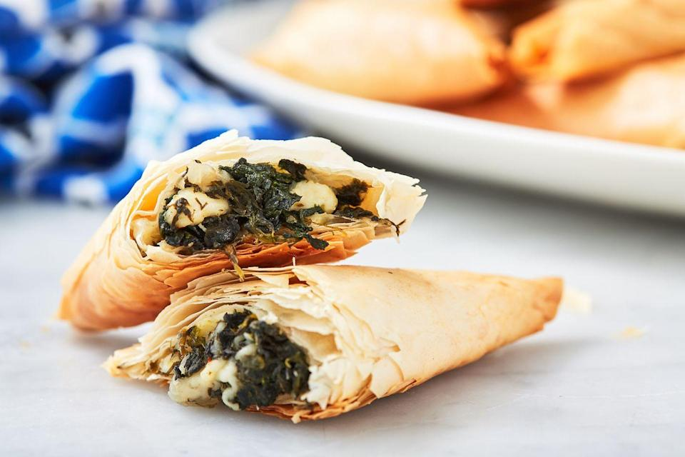 "<p>So much flaky crispy goodness. </p><p>Get the recipe from <a href=""https://www.delish.com/cooking/recipe-ideas/a26471474/spanakopita-spinach-pie-recipe/"" rel=""nofollow noopener"" target=""_blank"" data-ylk=""slk:Delish"" class=""link rapid-noclick-resp"">Delish</a>.</p>"