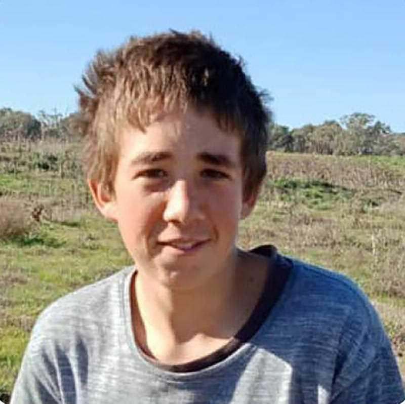 A supplied image of 15-year-old Braydon Worldon