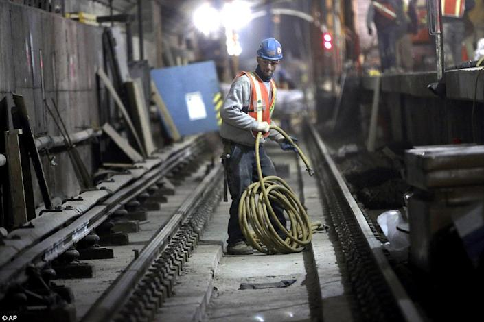The new projects will provide improved transit for residents and commuters on Manhattan's East Side, improved access to the Long Island Rail Road from Grand Central Station, and a far western expansion of the No. 7 subway line. (Photo/ AP)