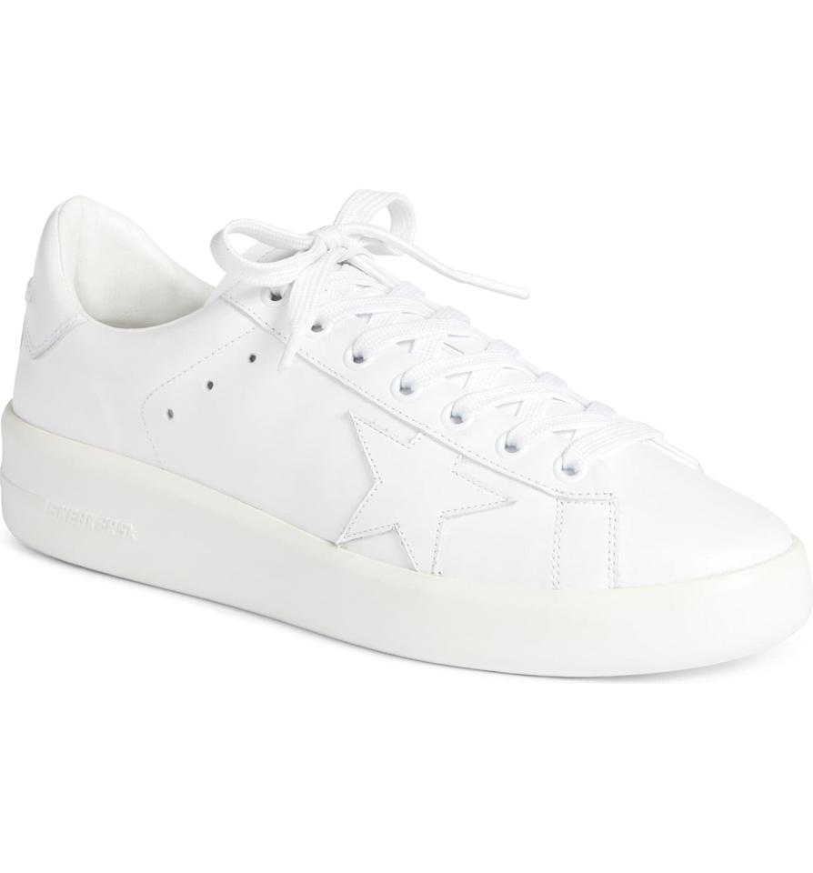 """<p>You can't go wrong with these <a href=""""https://www.popsugar.com/buy/Golden-Goose-Purestar-Sneakers-544802?p_name=Golden%20Goose%20Purestar%20Sneakers&retailer=shop.nordstrom.com&pid=544802&price=495&evar1=fab%3Aus&evar9=46178959&evar98=https%3A%2F%2Fwww.popsugar.com%2Ffashion%2Fphoto-gallery%2F46178959%2Fimage%2F47161356%2FGolden-Goose-Purestar-Sneaker&list1=shopping%2Cshoes%2Caccessories%2Csneakers%2Cwhite%2Csummer%2Csummer%20fashion&prop13=mobile&pdata=1"""" rel=""""nofollow"""" data-shoppable-link=""""1"""" target=""""_blank"""" class=""""ga-track"""" data-ga-category=""""Related"""" data-ga-label=""""https://shop.nordstrom.com/s/golden-goose-purestar-sneaker-women/5445970/full?origin=category-personalizedsort&amp;breadcrumb=Home%2FBrands%2FGolden%20Goose&amp;color=white"""" data-ga-action=""""In-Line Links"""">Golden Goose Purestar Sneakers</a> ($495).</p>"""