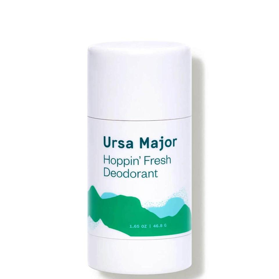 """<p><strong>Ursa Major</strong></p><p>dermstore.com</p><p><strong>$12.50</strong></p><p><a href=""""https://go.redirectingat.com?id=74968X1596630&url=https%3A%2F%2Fwww.dermstore.com%2Fursa-major-hoppin-fresh-deodorant-1.65-fl.-oz.%2F12902058.html&sref=https%3A%2F%2Fwww.goodhousekeeping.com%2Fbeauty%2Fanti-aging%2Fg37003869%2Fdeodorant-for-sensitive-skin%2F"""" rel=""""nofollow noopener"""" target=""""_blank"""" data-ylk=""""slk:Shop Now"""" class=""""link rapid-noclick-resp"""">Shop Now</a></p><p>Formulated with no added fragrances and aluminum, this deodorant is all-natural and suitable for sensitive skin. <strong>Blended with <a href=""""https://www.goodhousekeeping.com/health/wellness/a28322328/aloe-vera-gel-benefits/"""" rel=""""nofollow noopener"""" target=""""_blank"""" data-ylk=""""slk:aloe vera"""" class=""""link rapid-noclick-resp"""">aloe vera</a> to calm and soothe skin while you apply</strong>, this formula keeps underarms dry while making sure they don't become inflamed. </p>"""