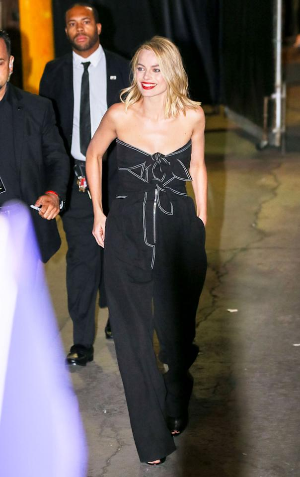 <h2>In A Derek Lam Jumpsuit</h2>                                                                                                                                                                             <p><p>At <em>Jimmy Kimmel Live </em>in Los Angeles, 2017</p>                                                                                                                                                                               <h4>Getty Images</h4>
