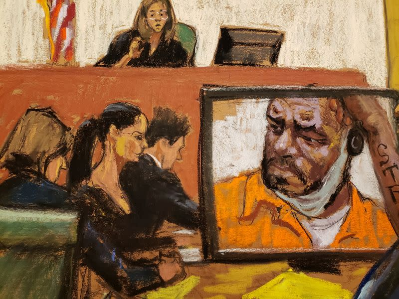 Courtroom sketch of R. Kelly appearance