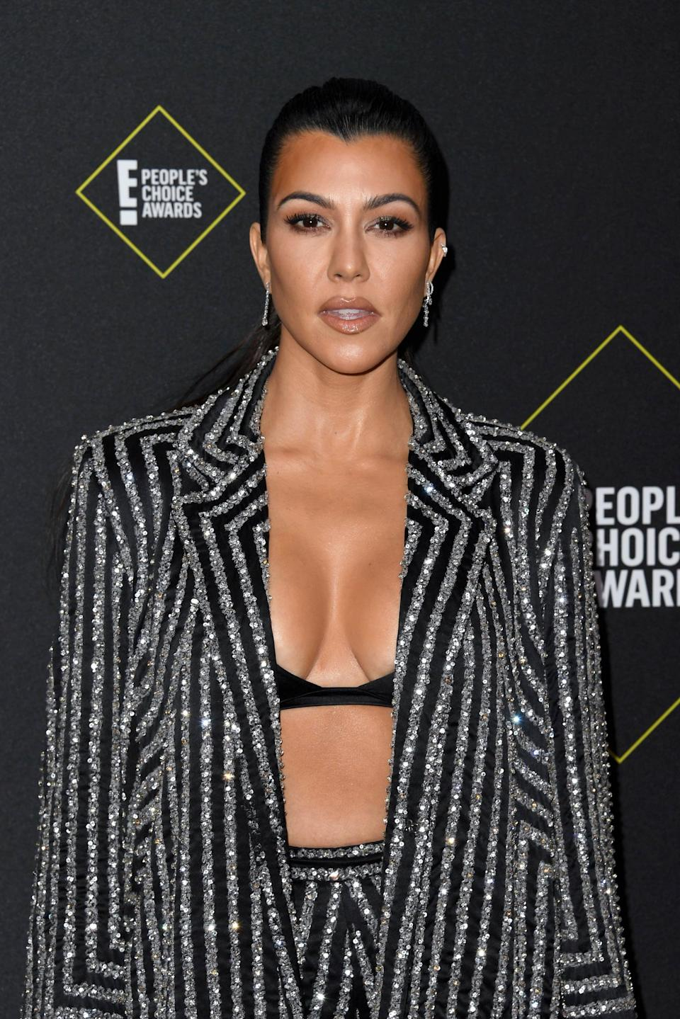 "<p>In 2010, Kourtney Kardashian told <strong>Nightline</strong> that <a href=""http://abcnews.go.com/Nightline/kardashians-nightline-interview/story?id=10689693"" class=""link rapid-noclick-resp"" rel=""nofollow noopener"" target=""_blank"" data-ylk=""slk:she's had her breast done"">she's had her breast done</a>, but she wasn't ashamed about having the procedure done at all. ""I have had breast implants, but it's so funny 'cause it's not a secret, I could care less,"" she said.</p>"