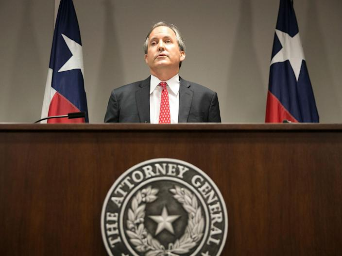 """<p>Texas AG Ken Paxton filed a lawsuit to halt the Biden administration's """"unlawful"""" freeze on deportations</p>"""