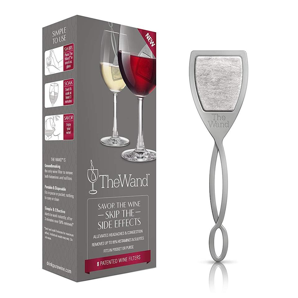 <p>How genius is this <span>The Wand by PureWine</span> ($20) gadget? Simply drop this wand into your glass, and it filters out sulfates, so you won't wake up with a wine headache.</p>